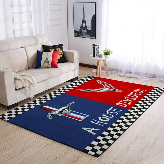 15 Ford Mustang And Chevrolet A House Dividen Rug 1