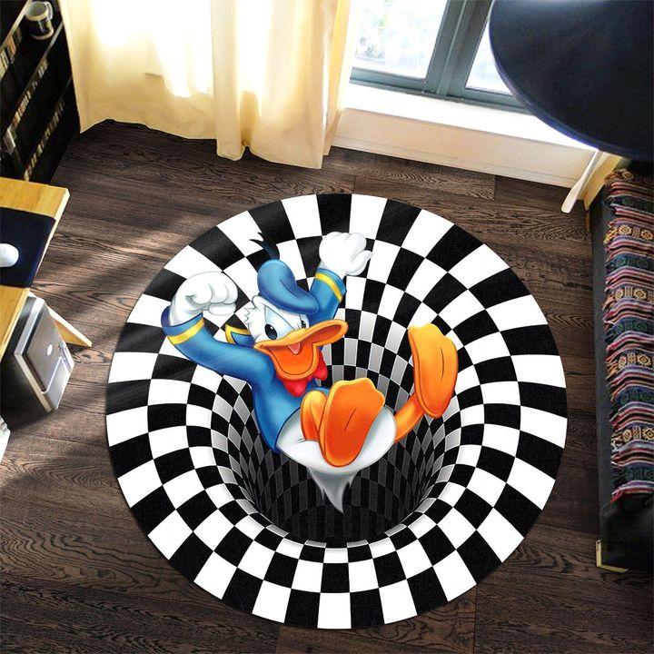 16 Disney Donald Duck illusion Round Rug 1