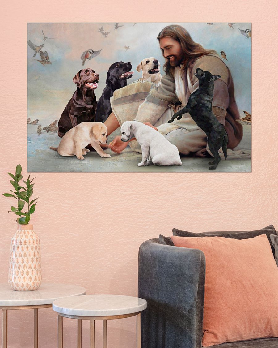 17 God surrounded by Labrador angels Poster 3
