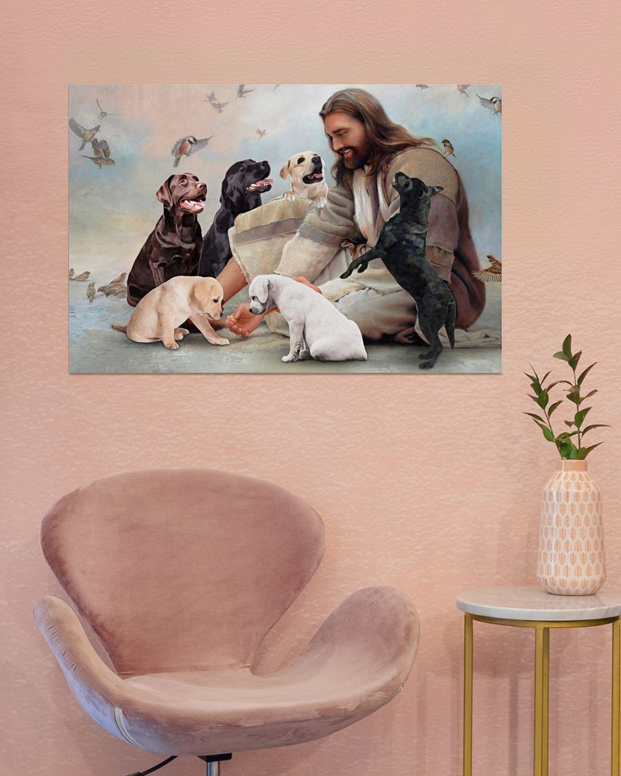 17 God surrounded by Labrador angels Poster 4