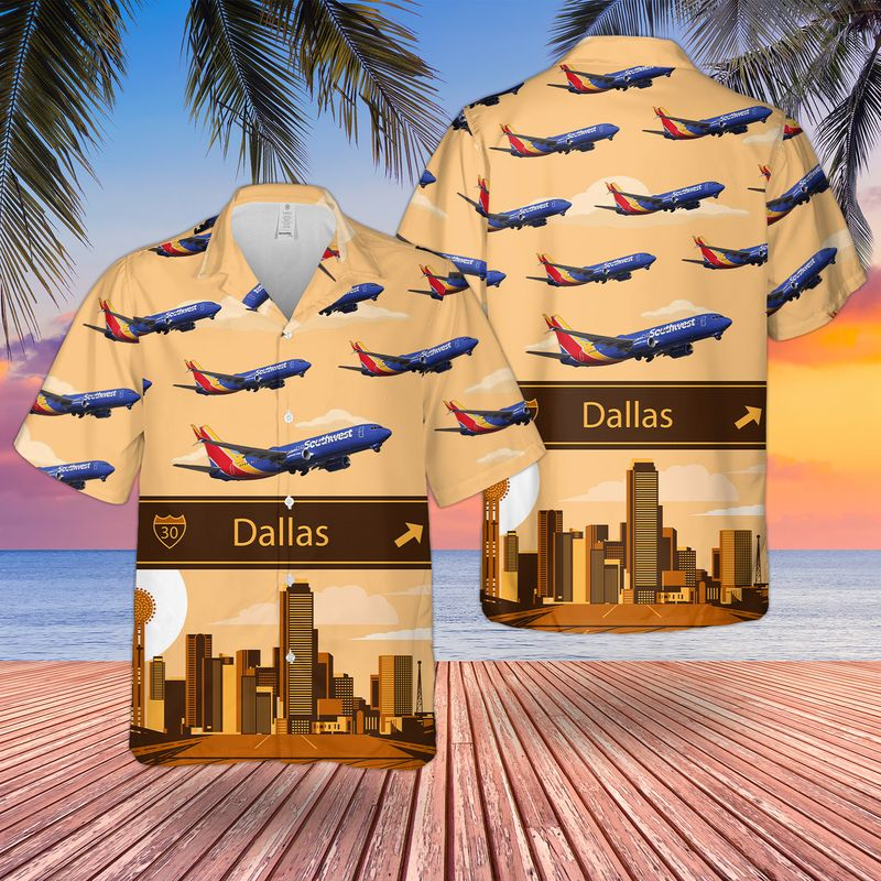 17 Southwest Airlines Boeing 737 800 Hawaiian Shirt And Short 1 1