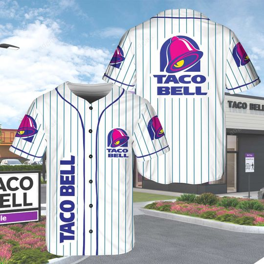 17 Taco Bell custom personalized name Jersey Baseball Shirt 1 1