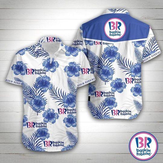 18 Baskin Robbins Hawaiian Shirt 1 1