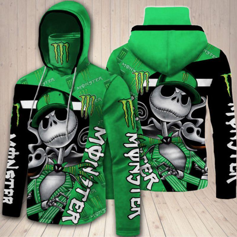 18 Monster Energy Jack Skellington 3d over print hoodie 1 1