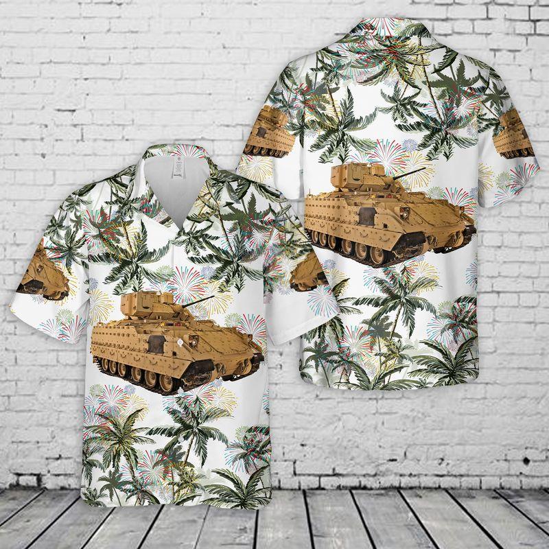 18 US Army M2A3 Bradley 4th Of July Hawaiian Shirt And Short 1 1