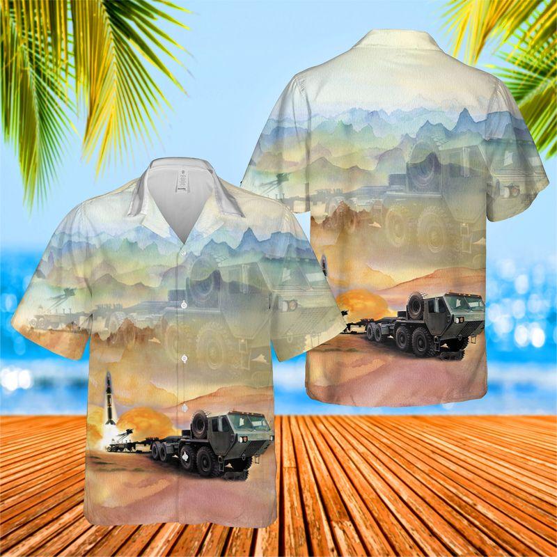 18 USA HEMTT M983 Tractor Pershing II Hawaiian Shirt And Short 1 1
