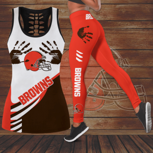 19 Chicago Browns Hollow Tank Top And Leggings Set 1