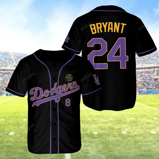 19 Dodgers Kobe Bryant 24 Baseball Jersey shirt 1 1