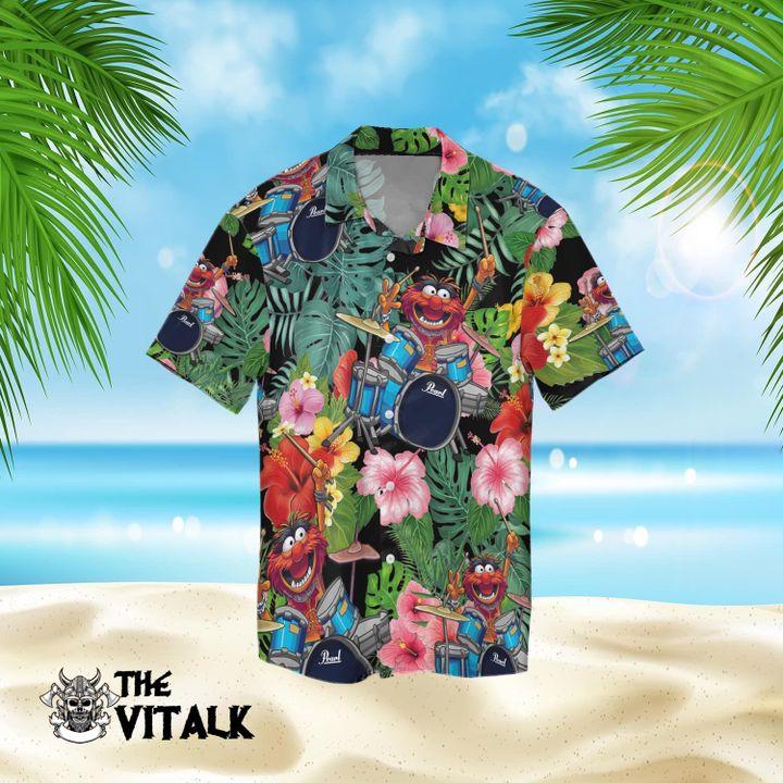 19 Muppet play Pearl Drum Hawaiian Shirt and Short 1 1
