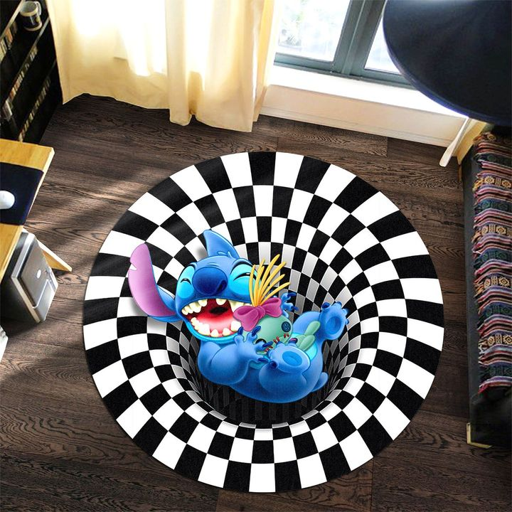 19 Stitch illusion Round Rug 1