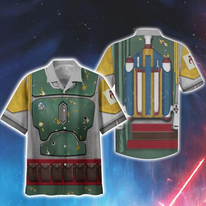 2 Cosplay Star Wars Boba Fett Hawaiian Shirt 1 1