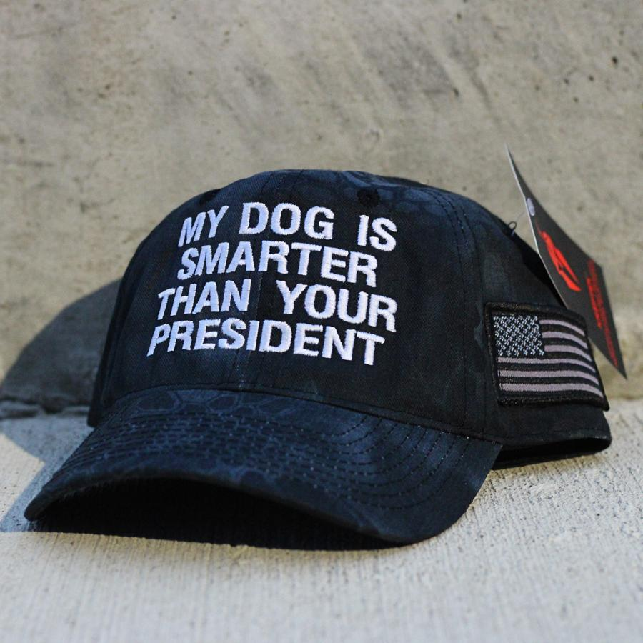 2 My dog Is smarter than your president hat 1 1