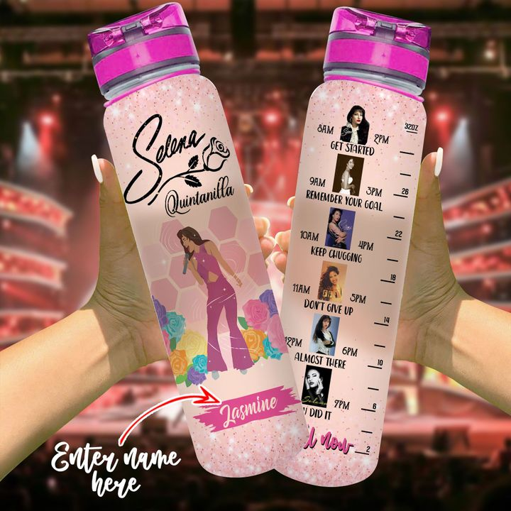 2 Selena Quintanilla Custom Name Tracker bottle 1