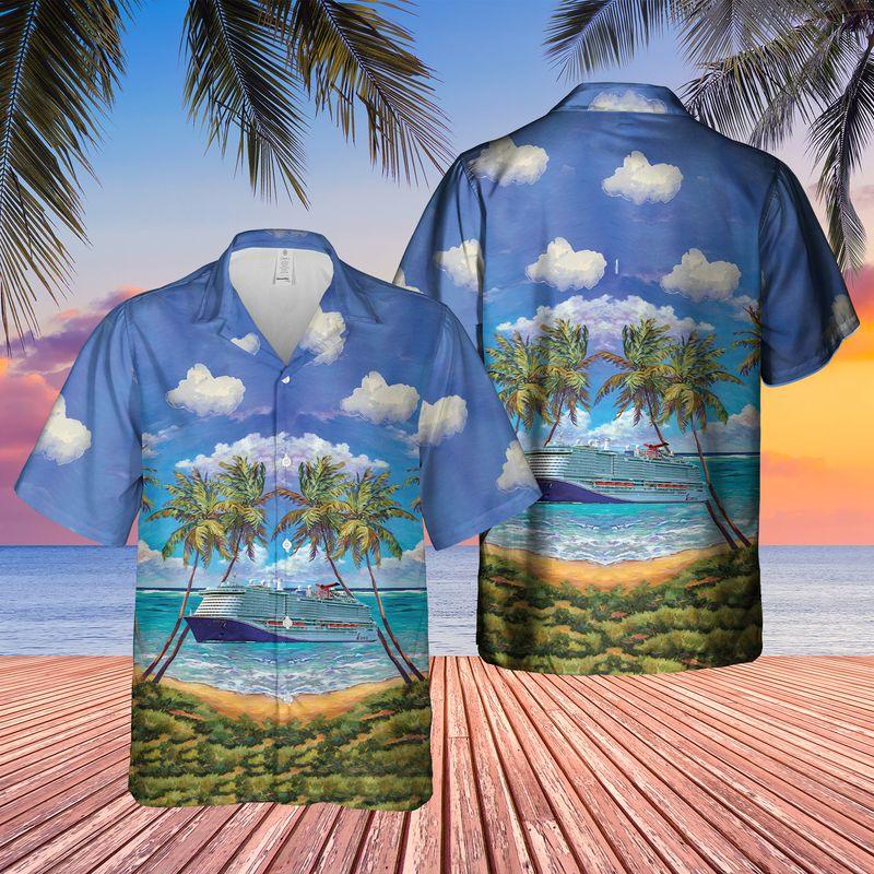 20 US Cruise Ship Mardi Gras Caribbean Hawaiian Shirt And Shorts 1 3