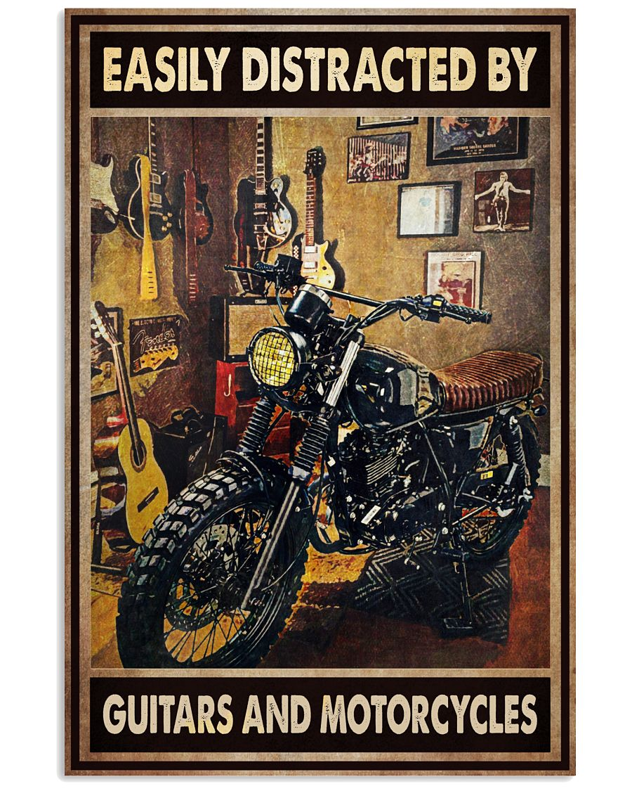 21 Easily distracted by guitars and motorcycles Vertical Poster 1 2