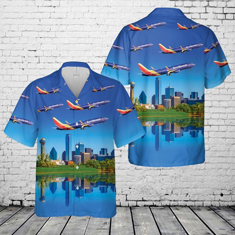 21 Southwest Airlines Boeing Dallas Hawaiian Shirt 1 1