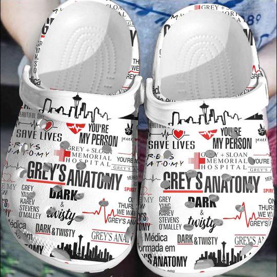 21 You Are My Person Greys Anatomy crocs clog crocband 1 1
