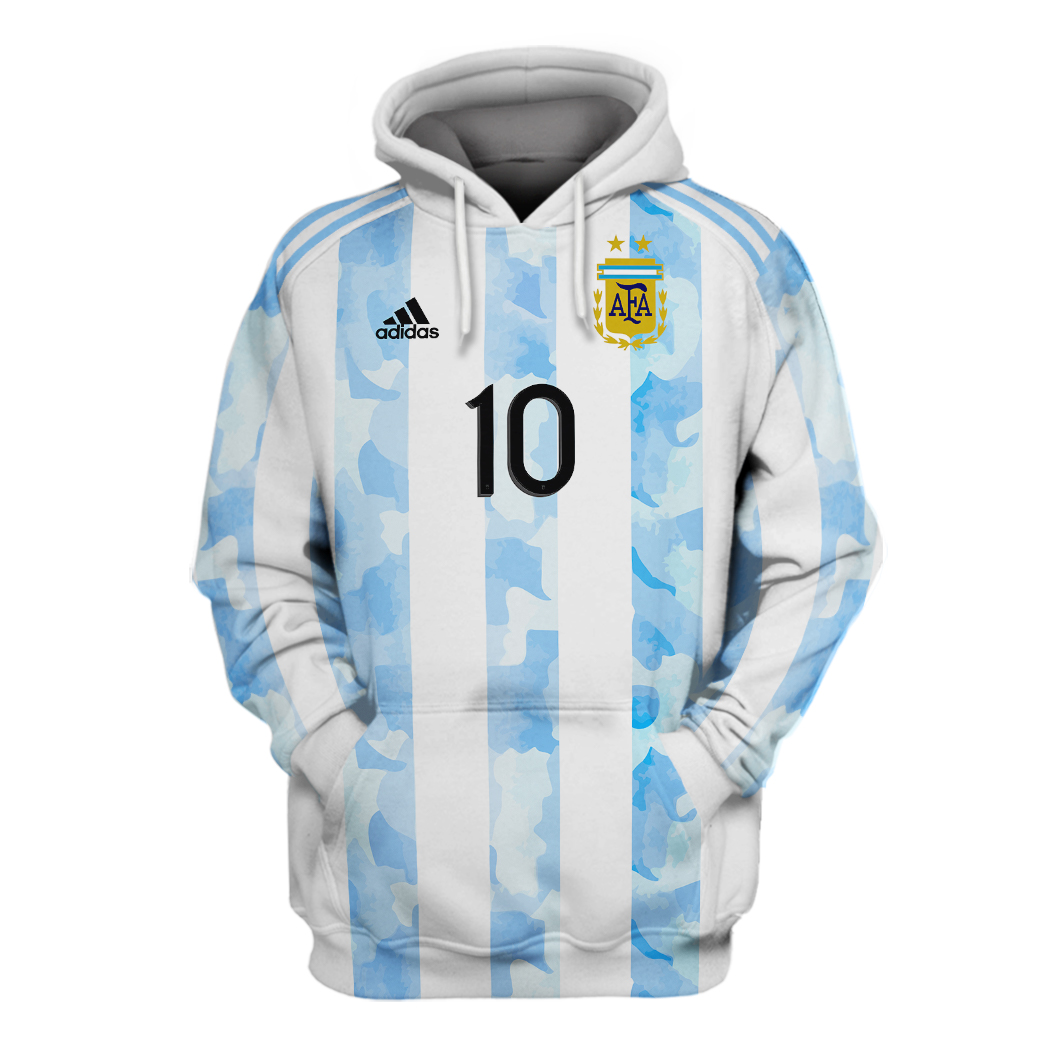 22 Argentina Messi 10 all over print 3d Hoodie And Shirt 1 1
