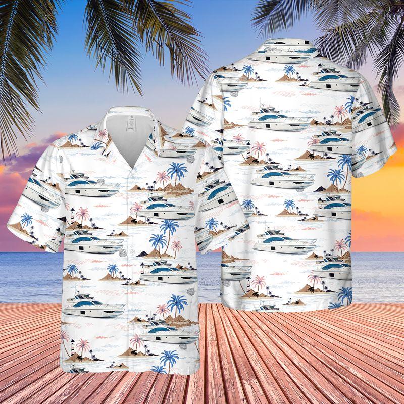 22 Azimut Yacht USA Hawaiian Shirt And Short 1 1