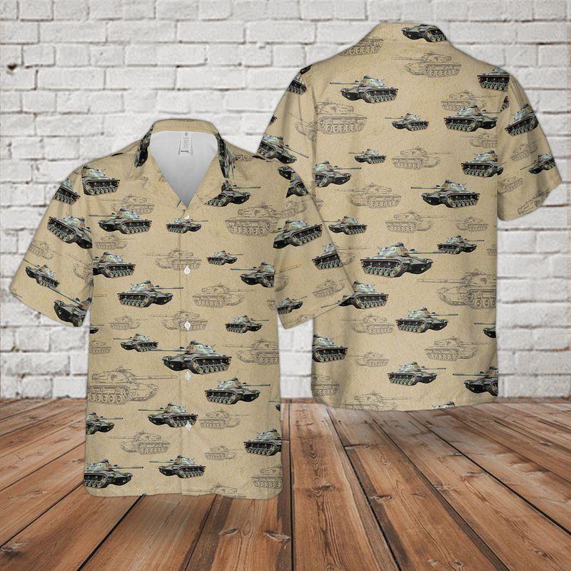 22 National Guard M60 Tank Hawaiian Shirt And Shorts 1 1