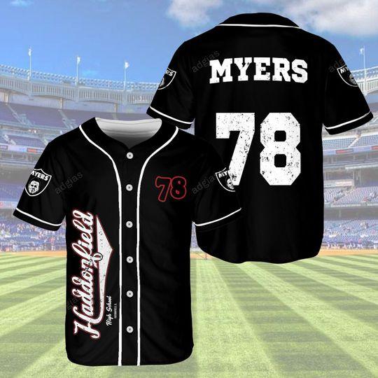 23 Myers Haddonfileld 78 baseball jersey shirt 1 1