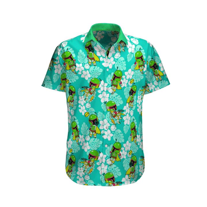 24 Boba Fett Tropical Hawaiian Shirt and short 1 1