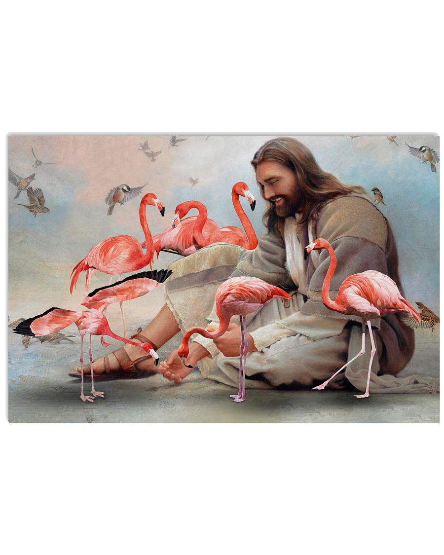 24 God surrounded by Flamingo angels Gift for you Horizontal Poster 1 2