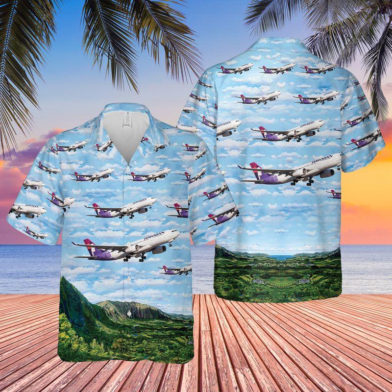 24 Hawaiian Airlines Airbus A330 243 Hawaiian Shirt 1 1