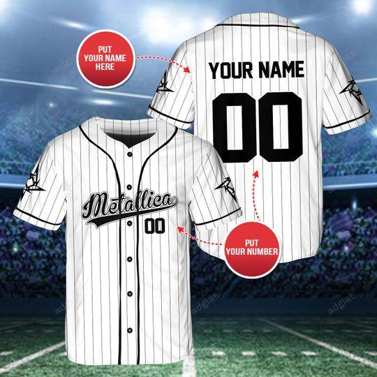 24 Metallica custom name and number baseball jersey shirt 1 1