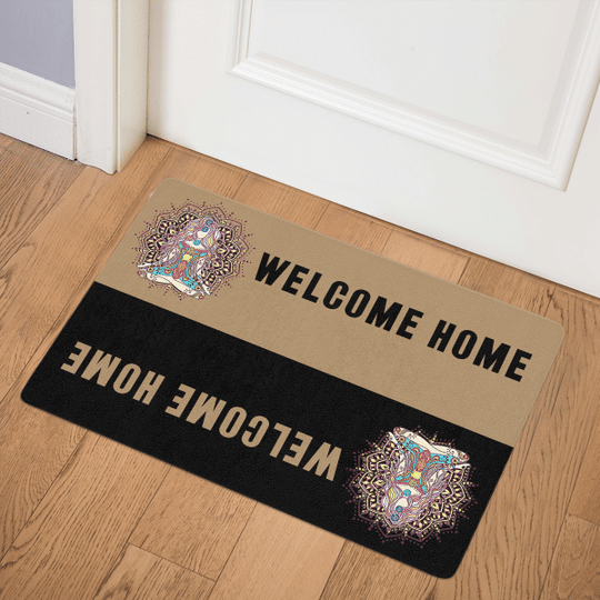 24 Namaste Yoga For Namaste And Hippie Lovers Doormat 1