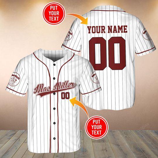 25 Mac Miller custom name and number baseball jersey shirt 1 1