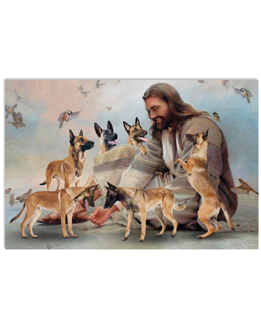 26 God surrounded by Malinois angels Gift for you Horizontal Poster 1 1