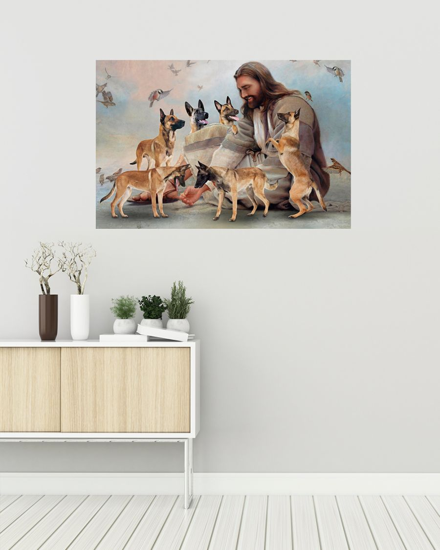 26 God surrounded by Malinois angels Gift for you Horizontal Poster 2