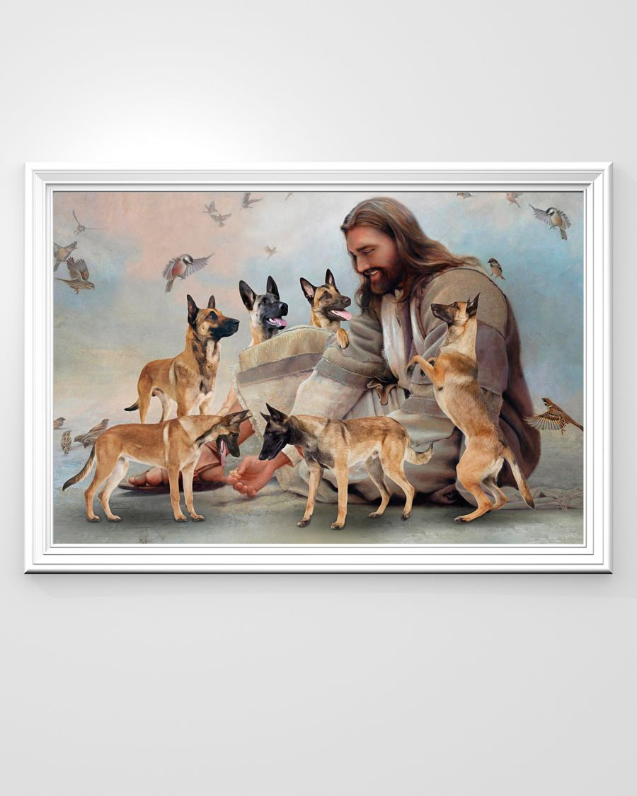 26 God surrounded by Malinois angels Gift for you Horizontal Poster 3
