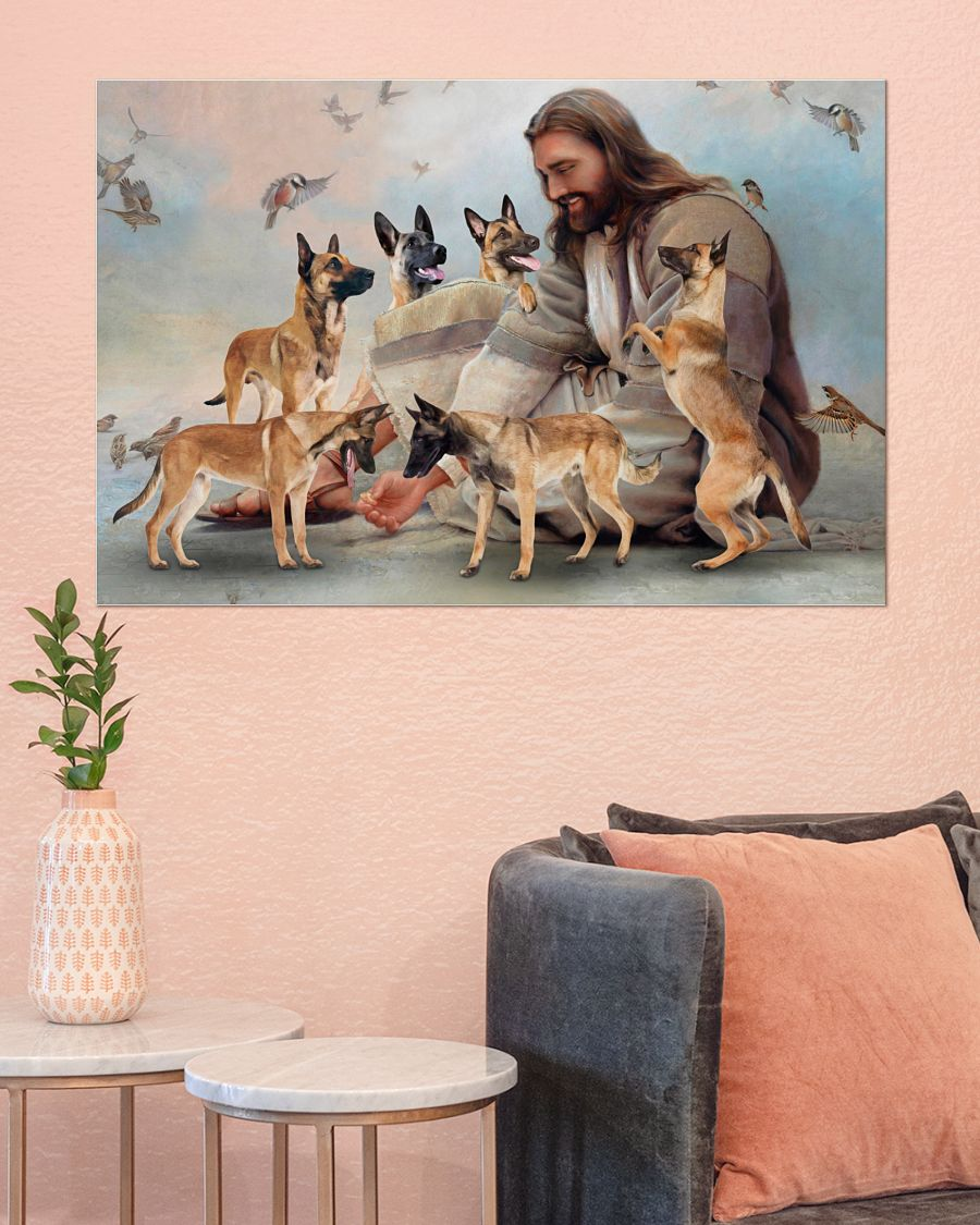26 God surrounded by Malinois angels Gift for you Horizontal Poster 4
