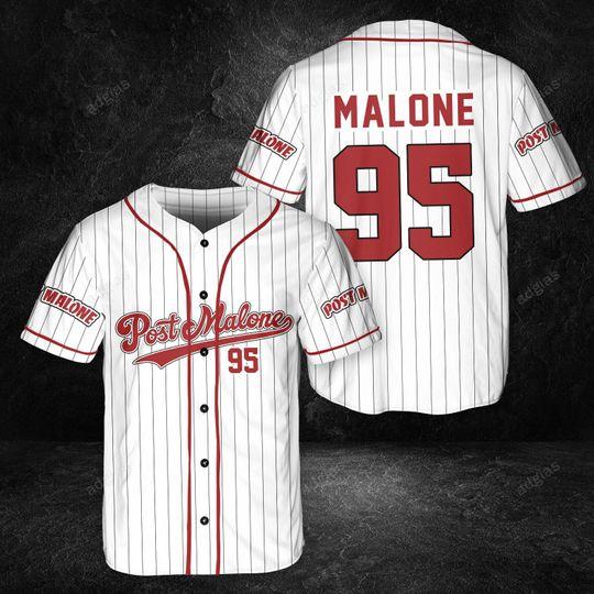 26 Post Malone custom name and number baseball jersey shirt 1 1