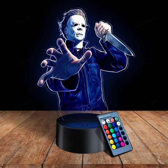 27 Michael Myers 3d illusion lamps led night light 1 1