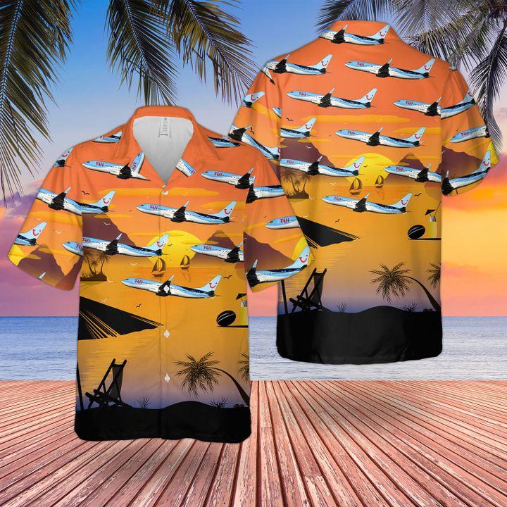 Tui fly belgium boeing 737-800 hawaiian shirt and short