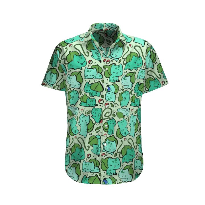 28 Fushigidane Bulbasaur Hawaiian Shirt 1 1