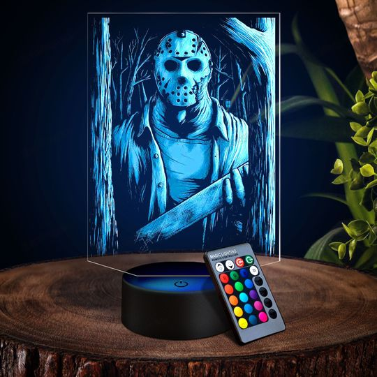 28 Jasoon Voheers in the woods 3d illusion lamps led night light 1 1