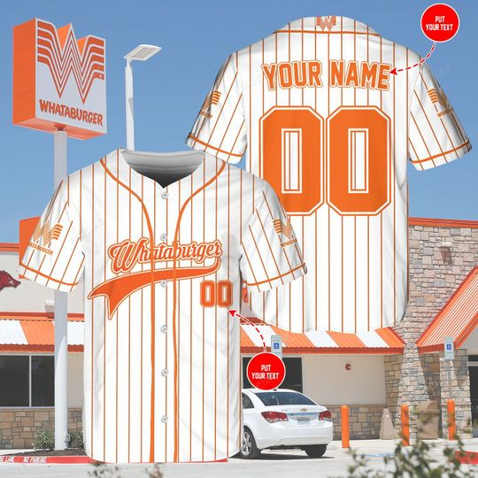 28 Whataburger custom name and number baseball jersey shirt 1 1
