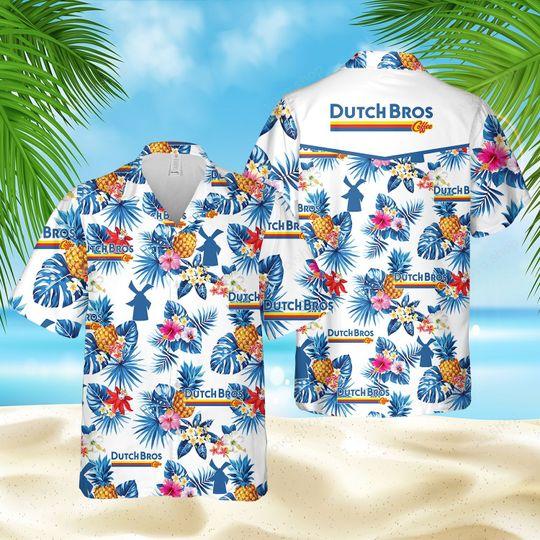 3 Dutch Bros Coffee Hawaiian Shirt And Short 1 1