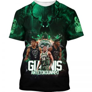 30 Giannis Antetokounmpo Milwaukee Bucks 3d hoodie shirt 1
