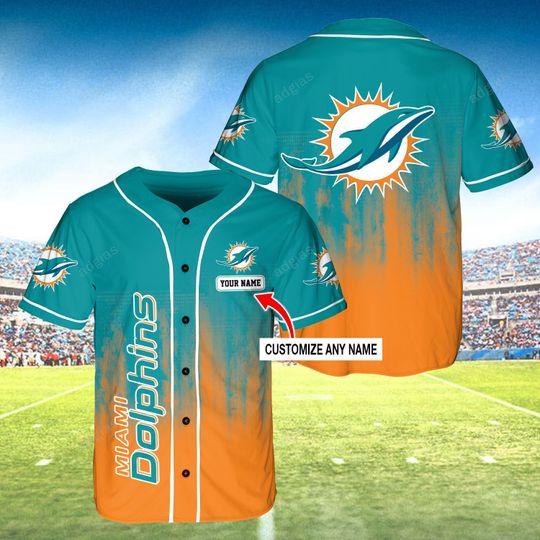 31 Miamo Dolphins custom name baseball jersey 1 1