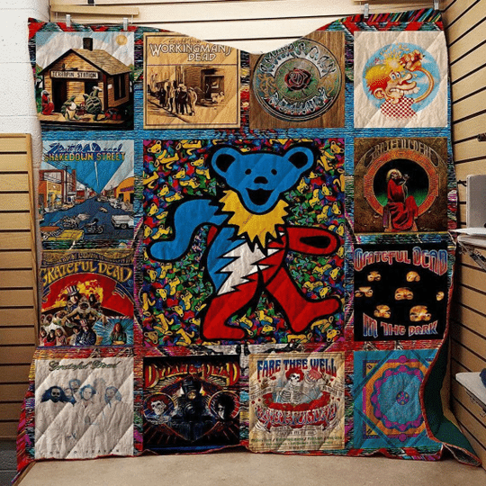 4 Deadheads Grateful Dead Bear Blanket 1