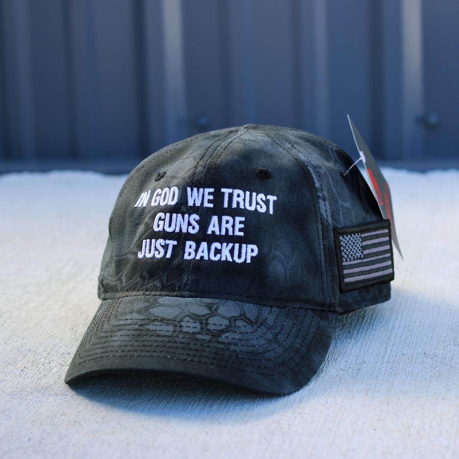 4 In god we trust guns are just backup hat 1 1