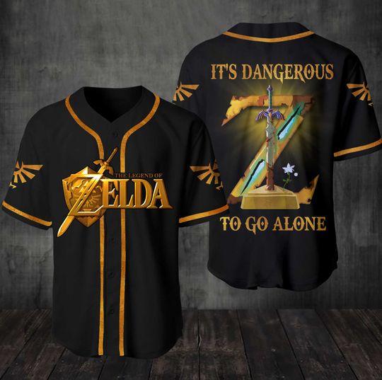 4 The Legend of Zelda Its Dangerous To Go Alone Baseball Jersey Shirt 1 1