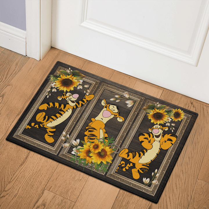 4 Tigger Sunflower doormat 1 1
