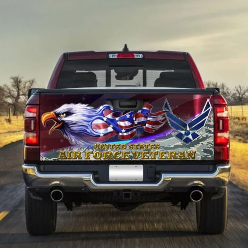 4 United States Air Force Veteran Truck Tailgate Decal Sticker Wrap 1 1