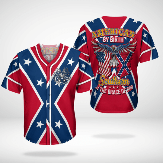 5 American By Birth Southern By The Grace Of God Baseball Jersey Shirt 1 1